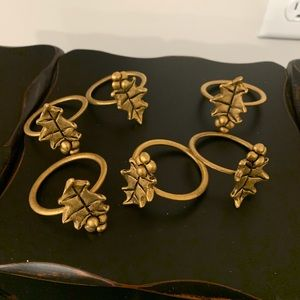 Other - Holly Brass napkin rings